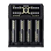 Зарядное устройство Enook Alien E4 (4 слота, 3 режима заряда) 2A